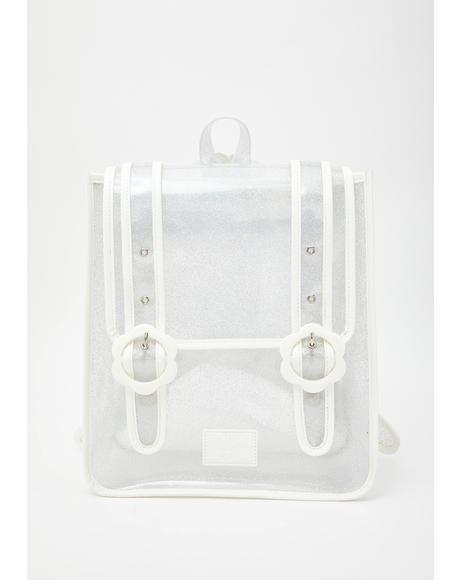Daisy Clear Glitter Backpack
