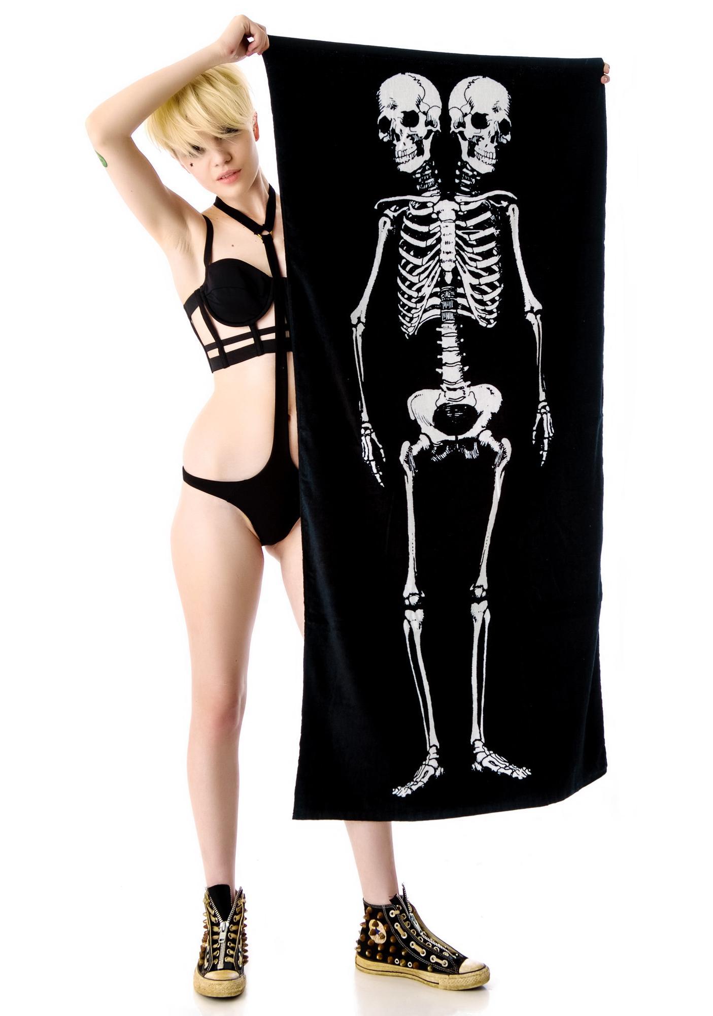 Sourpuss Clothing Skeleton Beach Towel