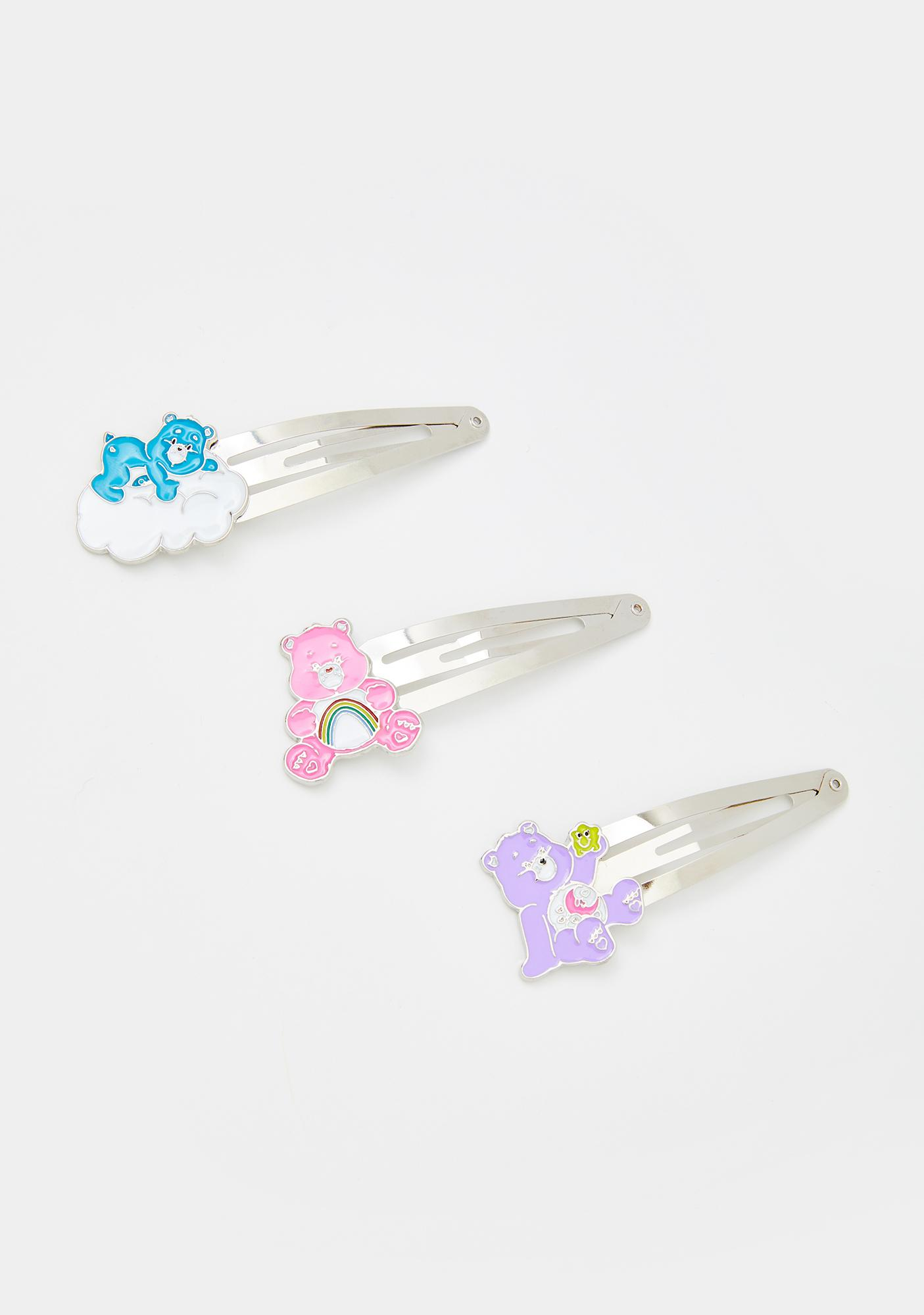 Dolls Kill x Care Bears Cute As Fluff Hair Clip Set