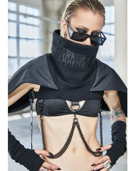 Bassline Hooded Chain Harness Shrug