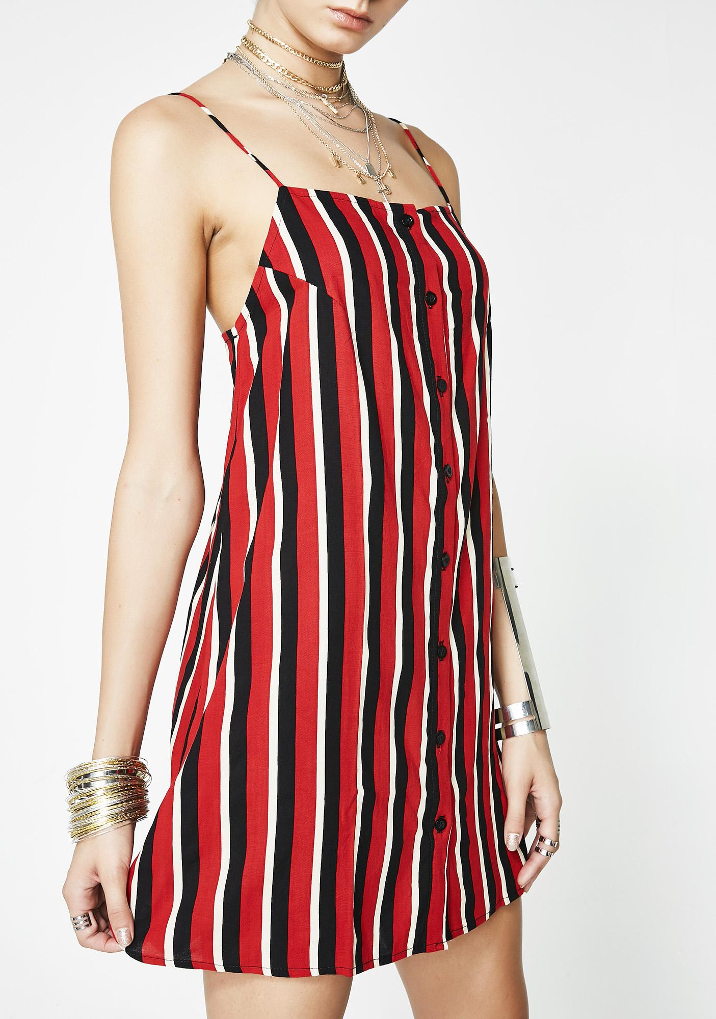 Motel Sunset Stripe Sanna Slip Dress