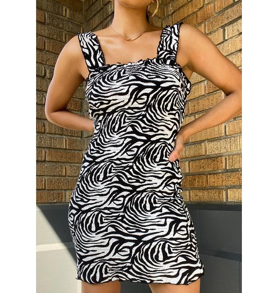 SNDYS. THE LABEL Tina Zebra Print Dress
