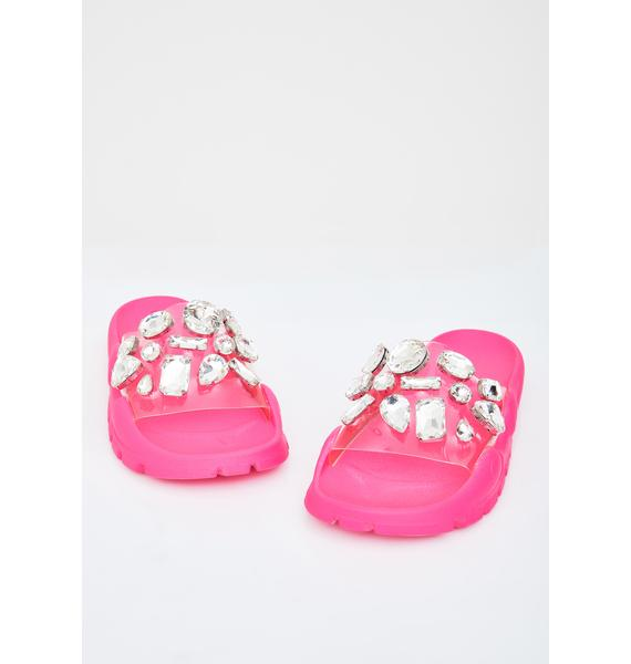 Candy Glamour Jeweled Slides