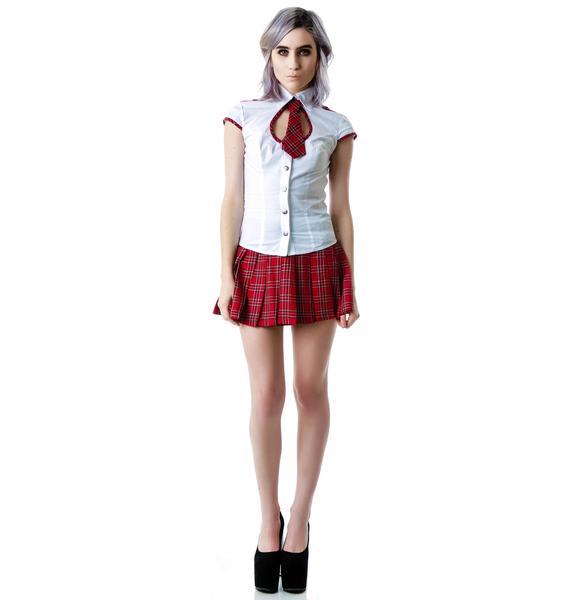Lip Service Britney School Girl Tie Top