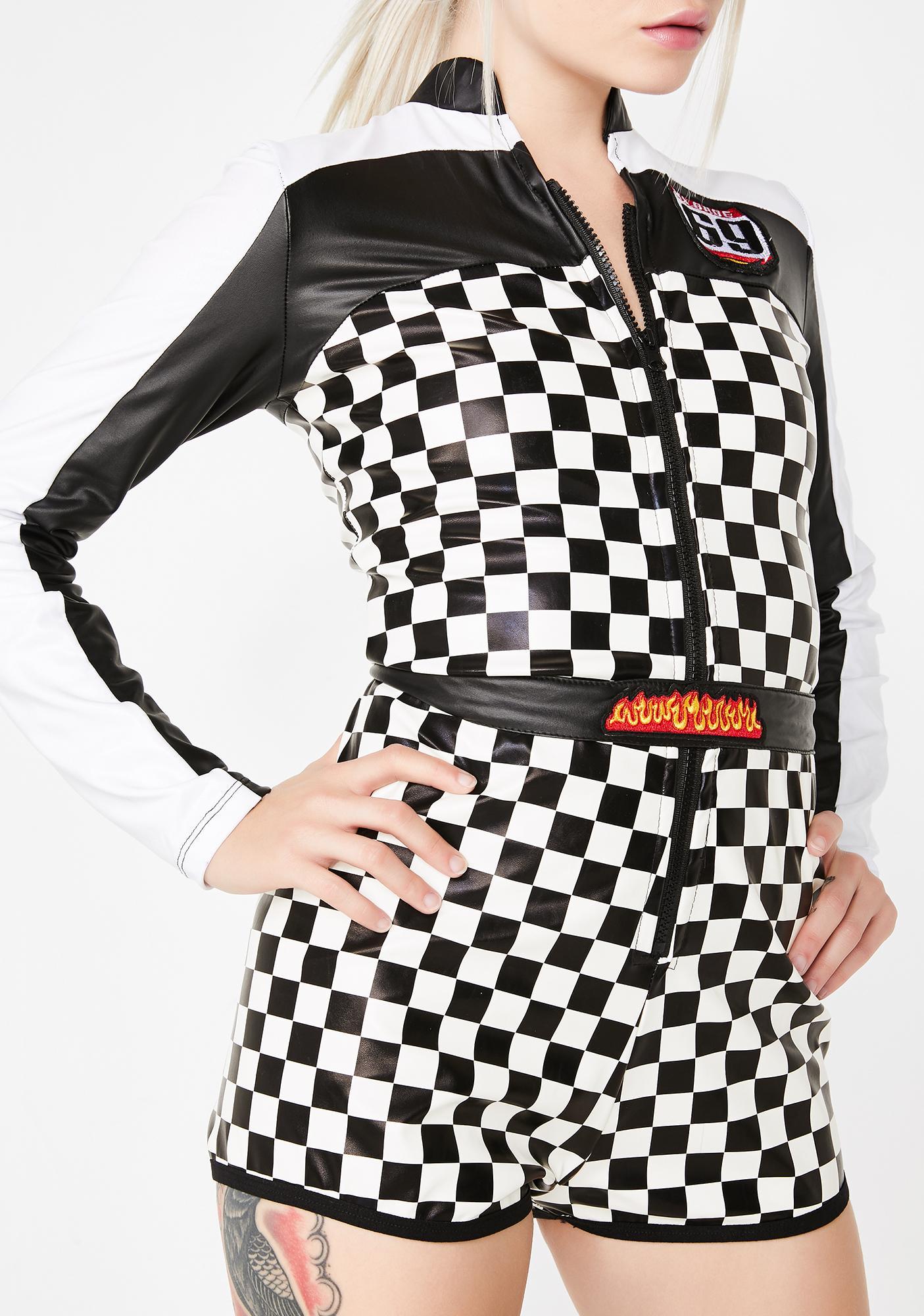 Dolls Kill First To Finish Motocross Costume