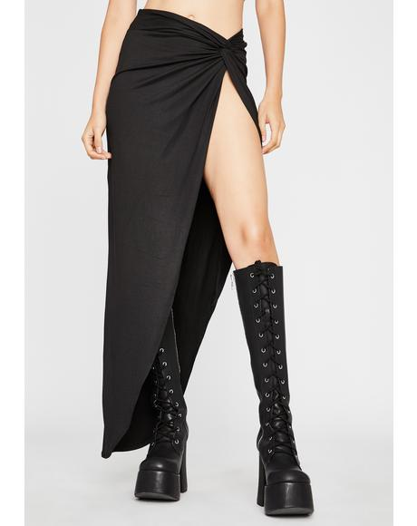 Eye Of The Storm Midi Skirt