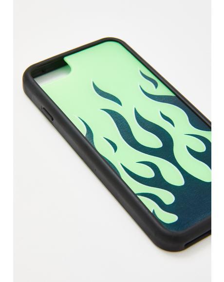 Neon Flames iPhone Case