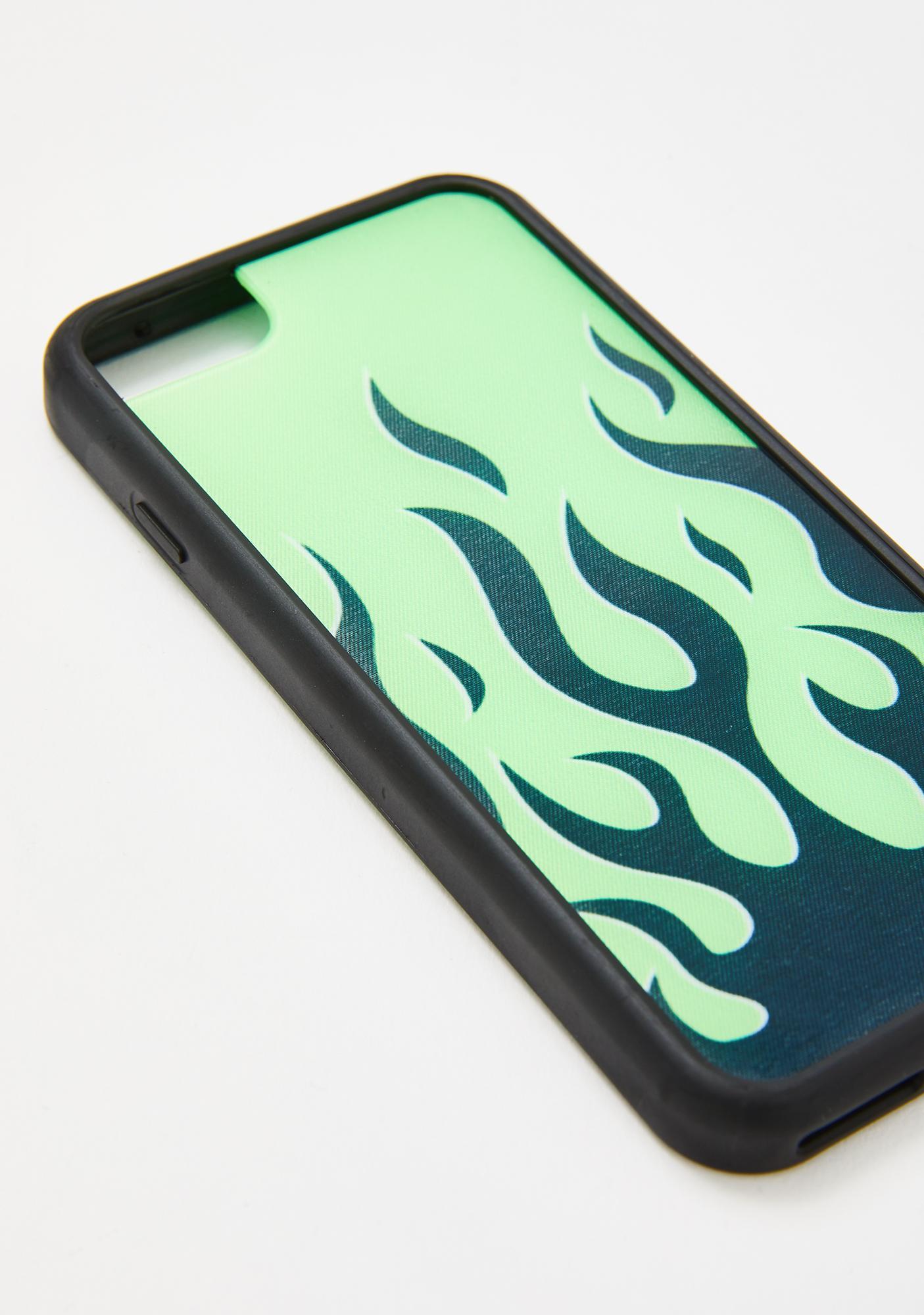 Wildflower Neon Flames iPhone Case
