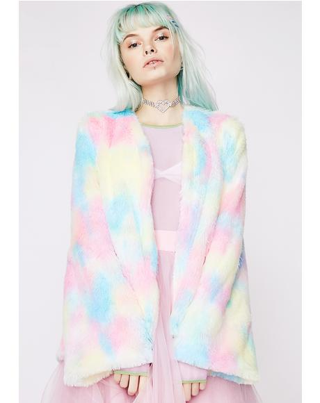 Candy Craving Fluffy Coat