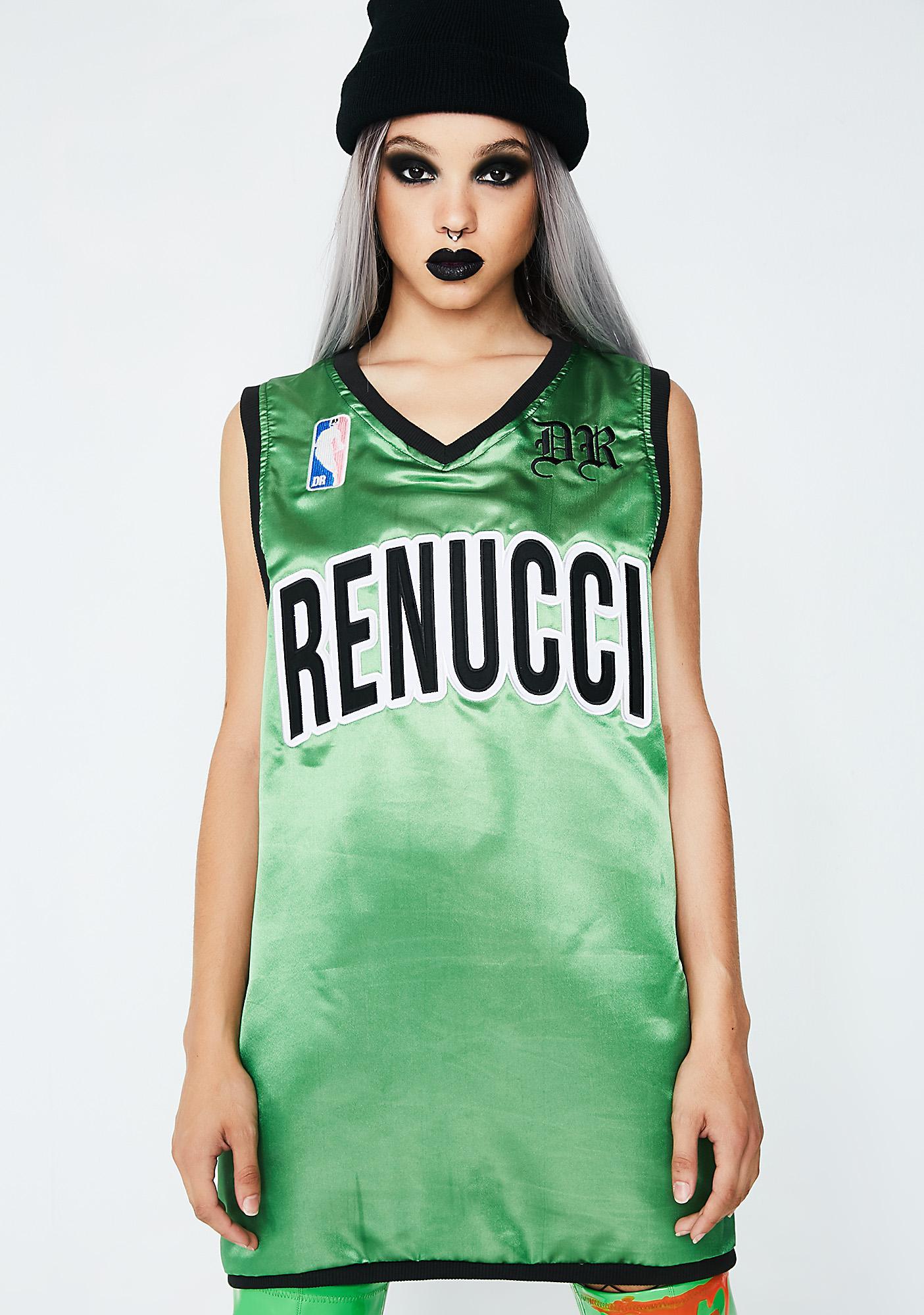 Demian Renucci Green B-Ball Jersey