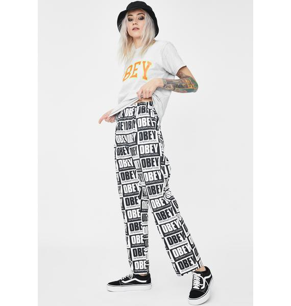 Obey Splash Relaxed Pants