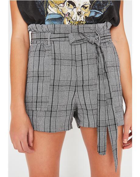 Shook Report Plaid Shorts