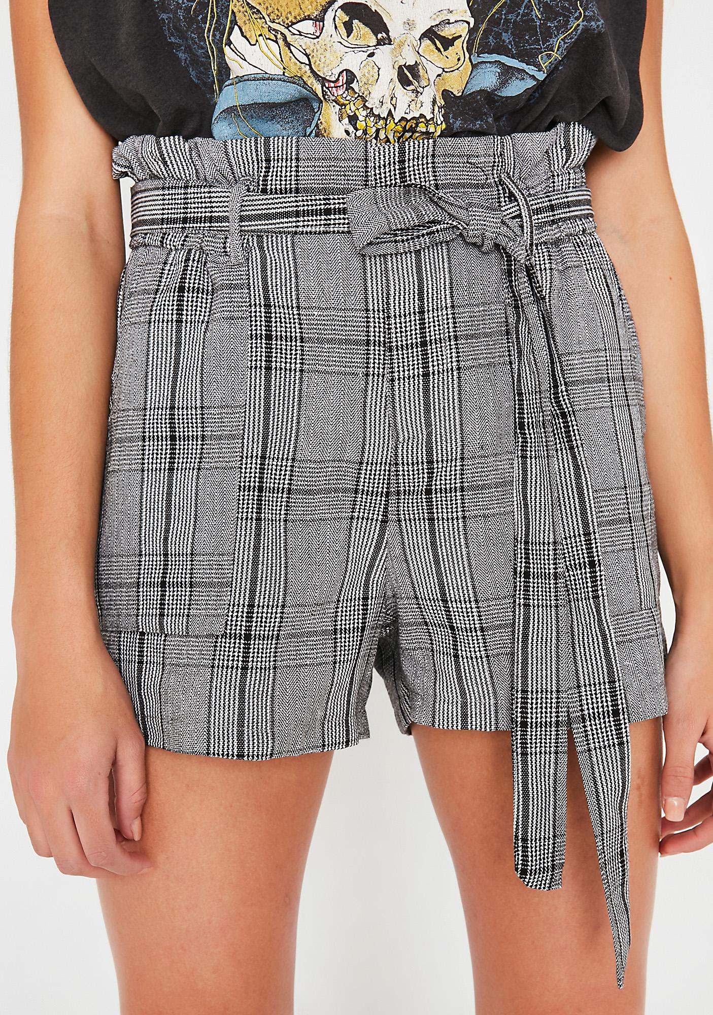 Shook Report Plaid Shorts