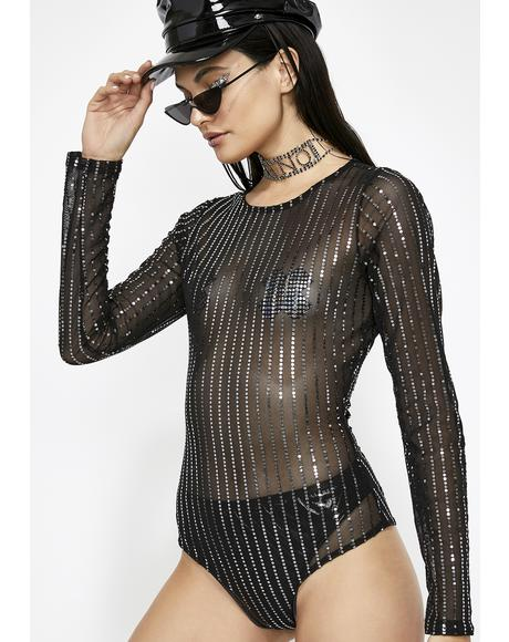 Flashing Lightz Sheer Bodysuit