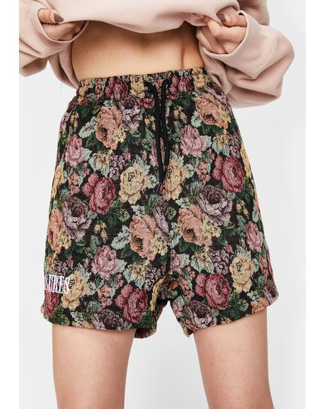 Floral Woven Lounge Shorts