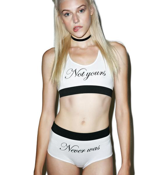 O Mighty Not Yours Underwear Set