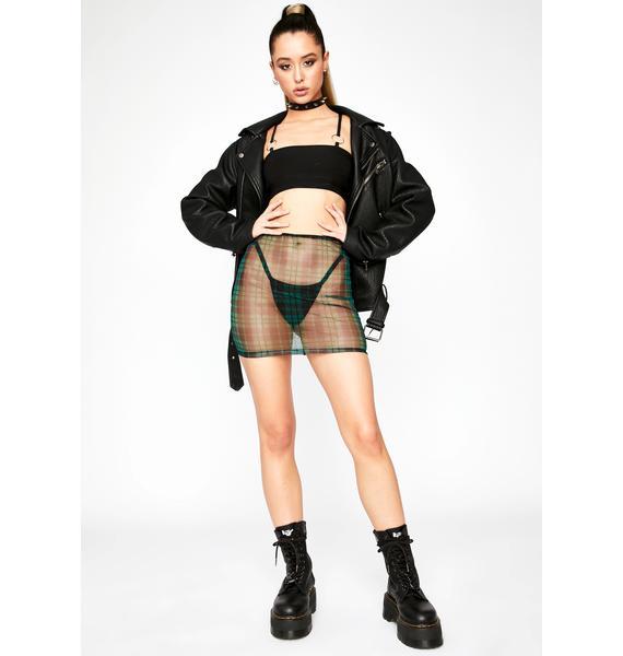 Sage Tunnel Vision Mini Skirt