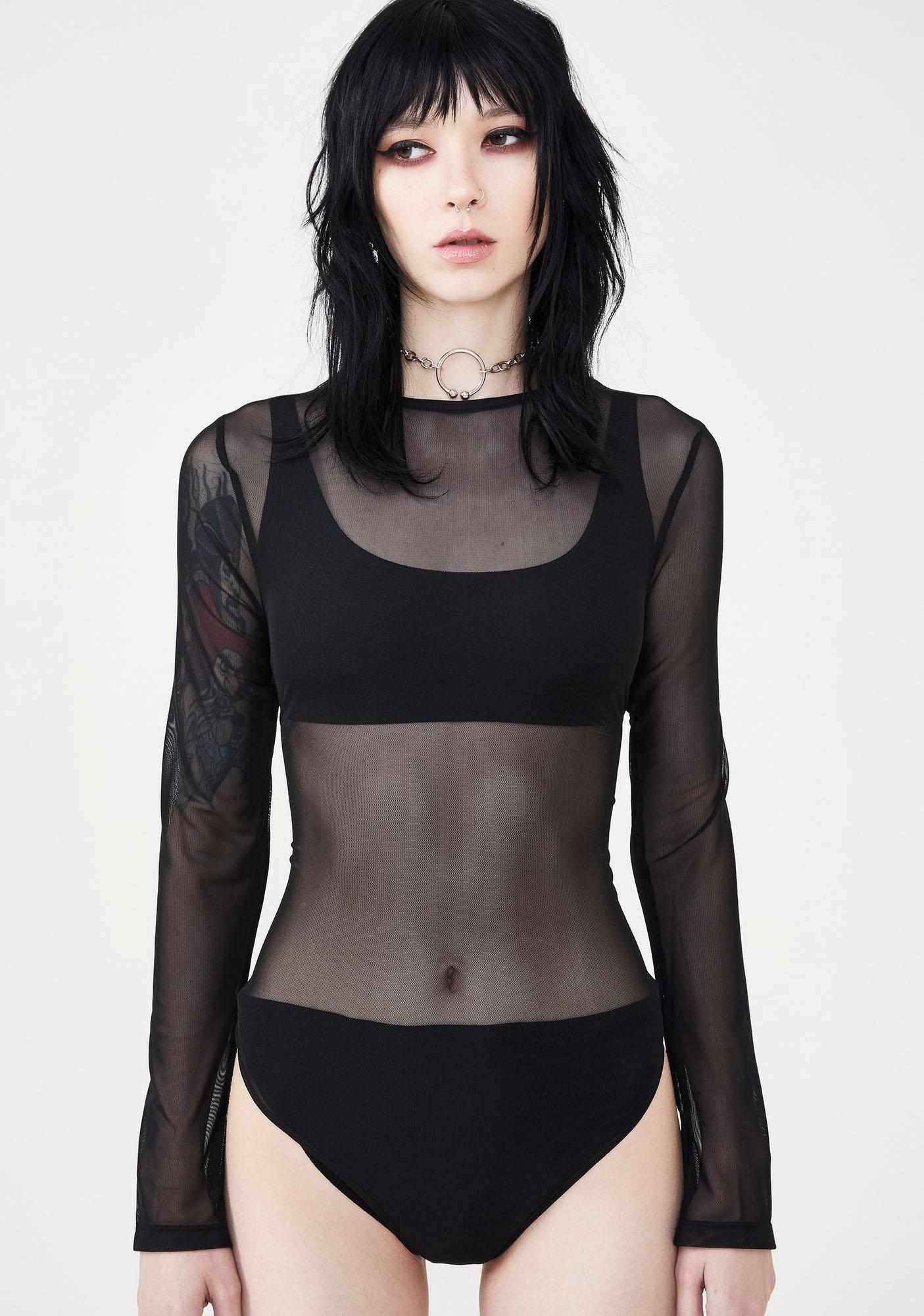 Disturbia Ghost Sheer Bodysuit