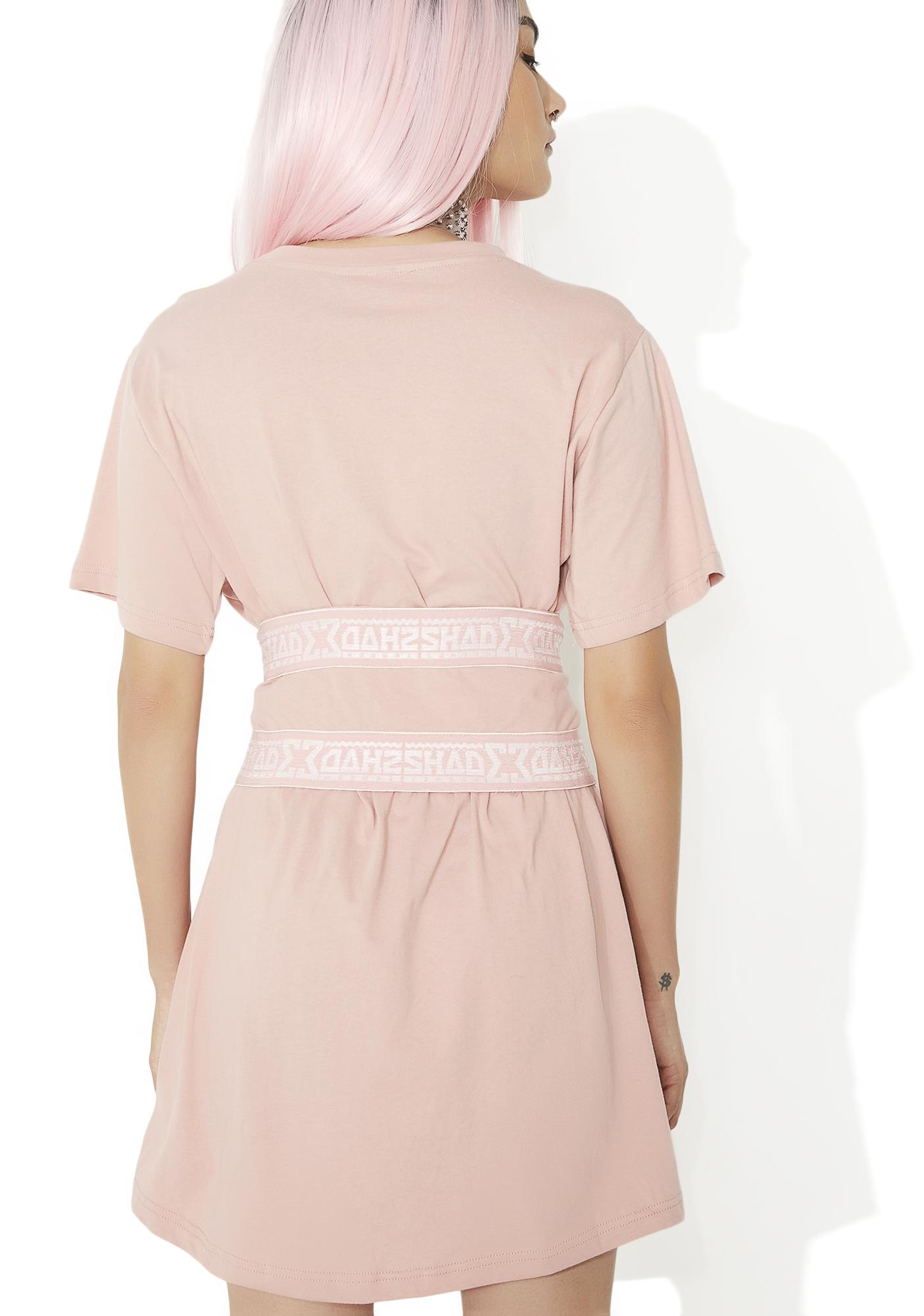 Shade London Blossom Lace Up Cincher T Dress