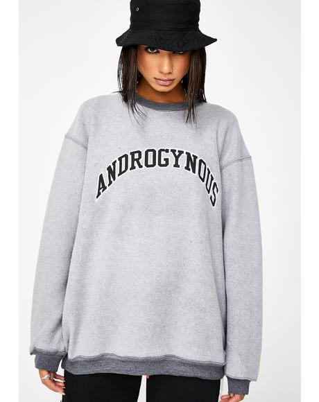 Androgynous Applique Crewneck