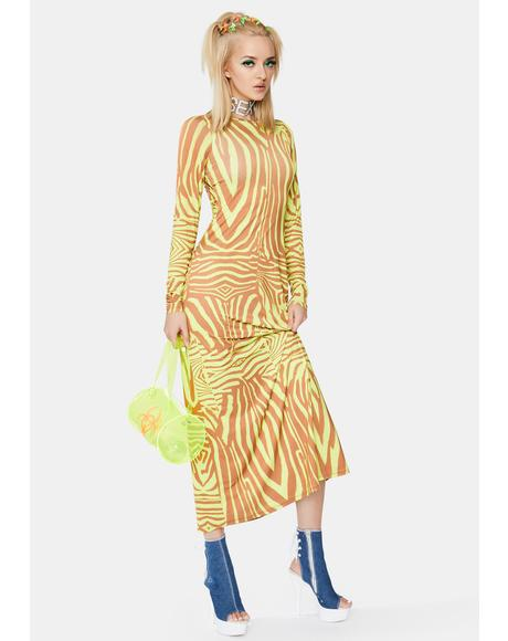 Abstract Zebra Nollie Dress