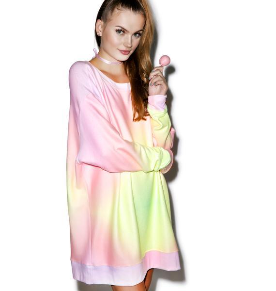 Wildfox Couture Rainbow Brite Roadtrip Sweater Dress