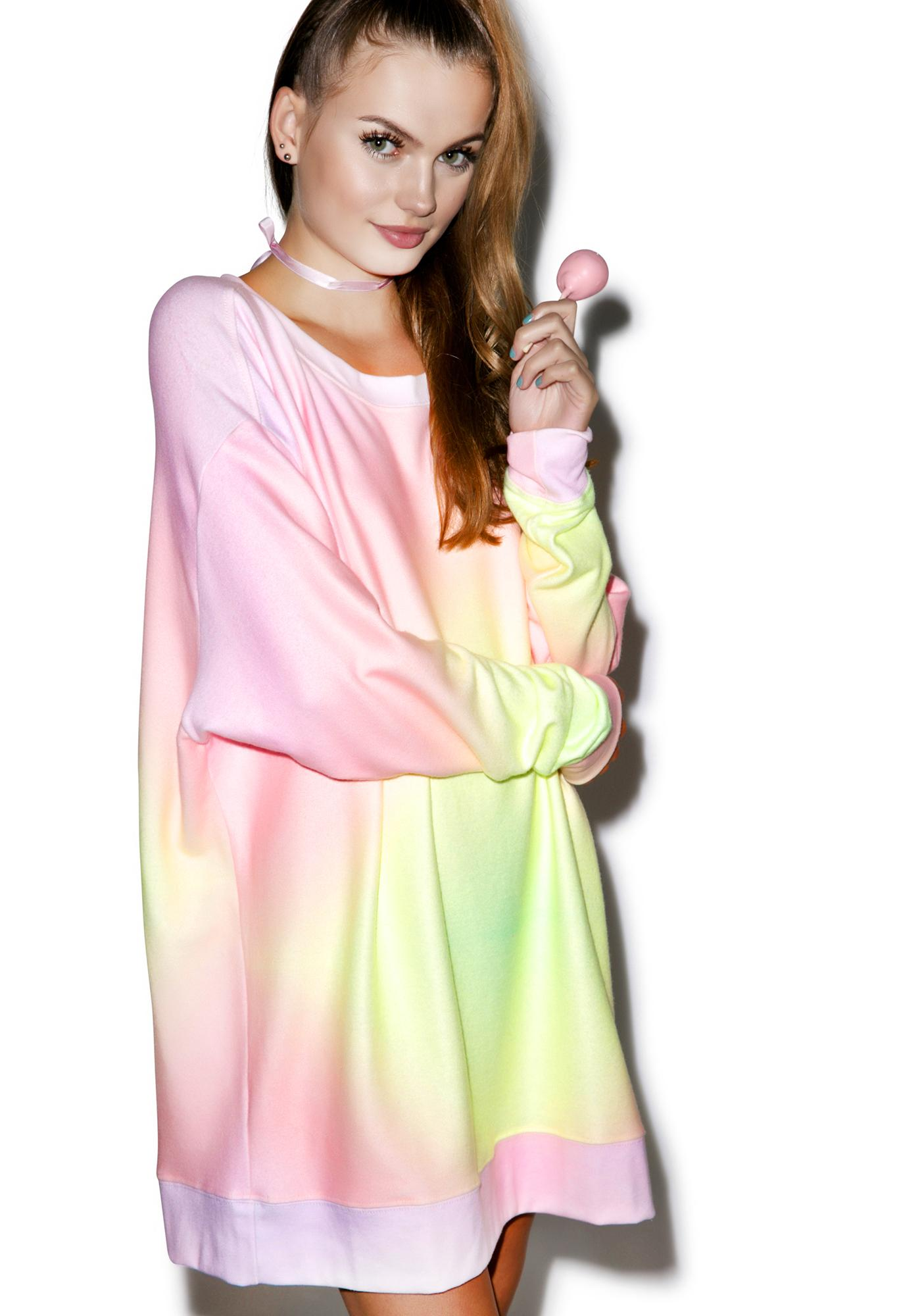 df5befa9221 ... Wildfox Couture Rainbow Brite Roadtrip Sweater Dress ...