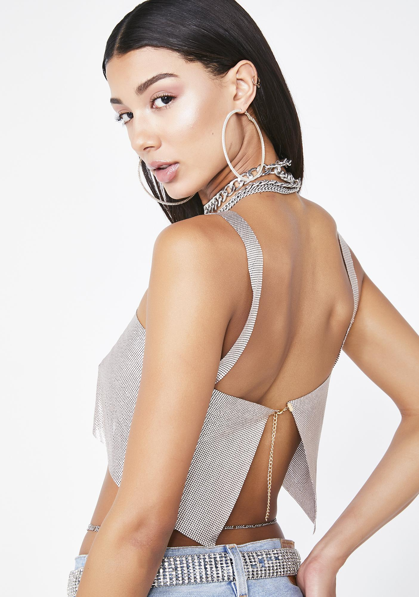 Poster Grl High Glamour Chainmail Top