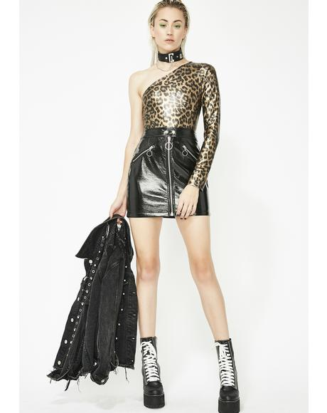Savage Sass Metallic Bodysuit