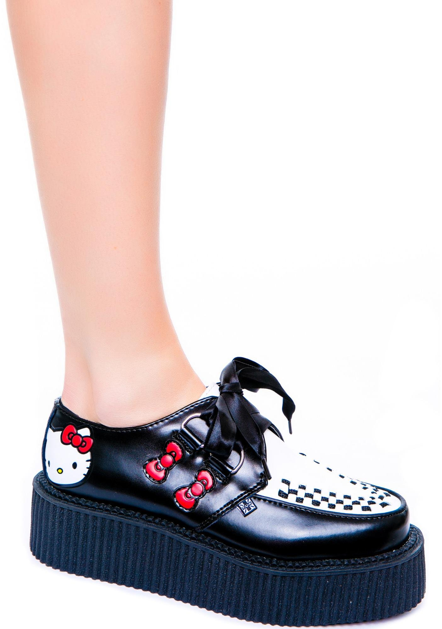 a35914546 T.U.K. Hello Kitty Mondo Creeper | Dolls Kill