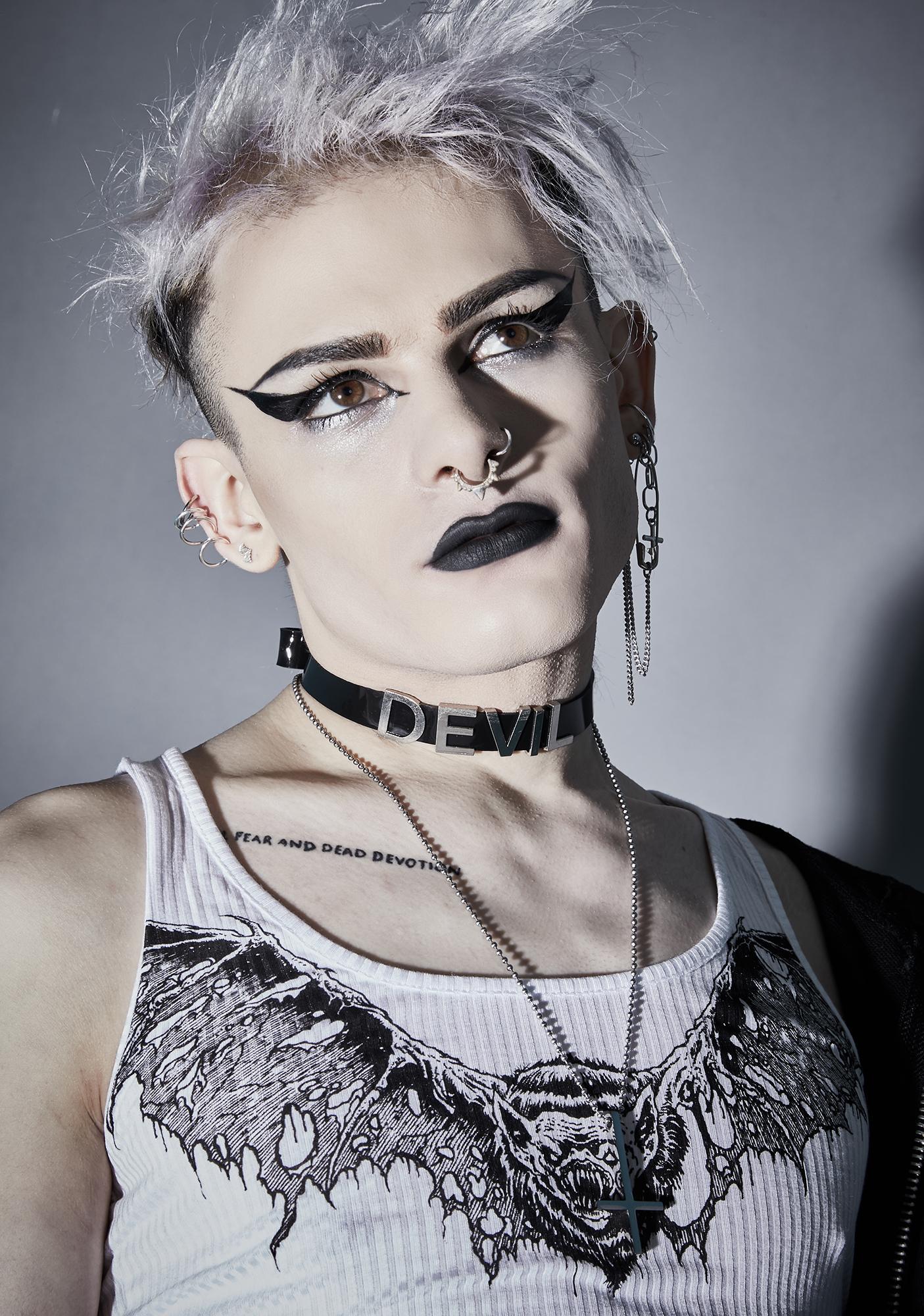 Funk Plus Devil's Disciple Vegan Leather Choker