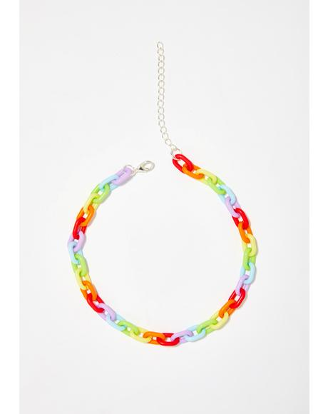 Kill With Kindness Rainbow Choker