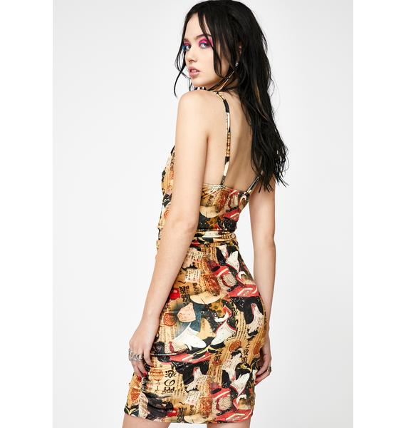 NEW GIRL ORDER Tapestry Print Cami Dress