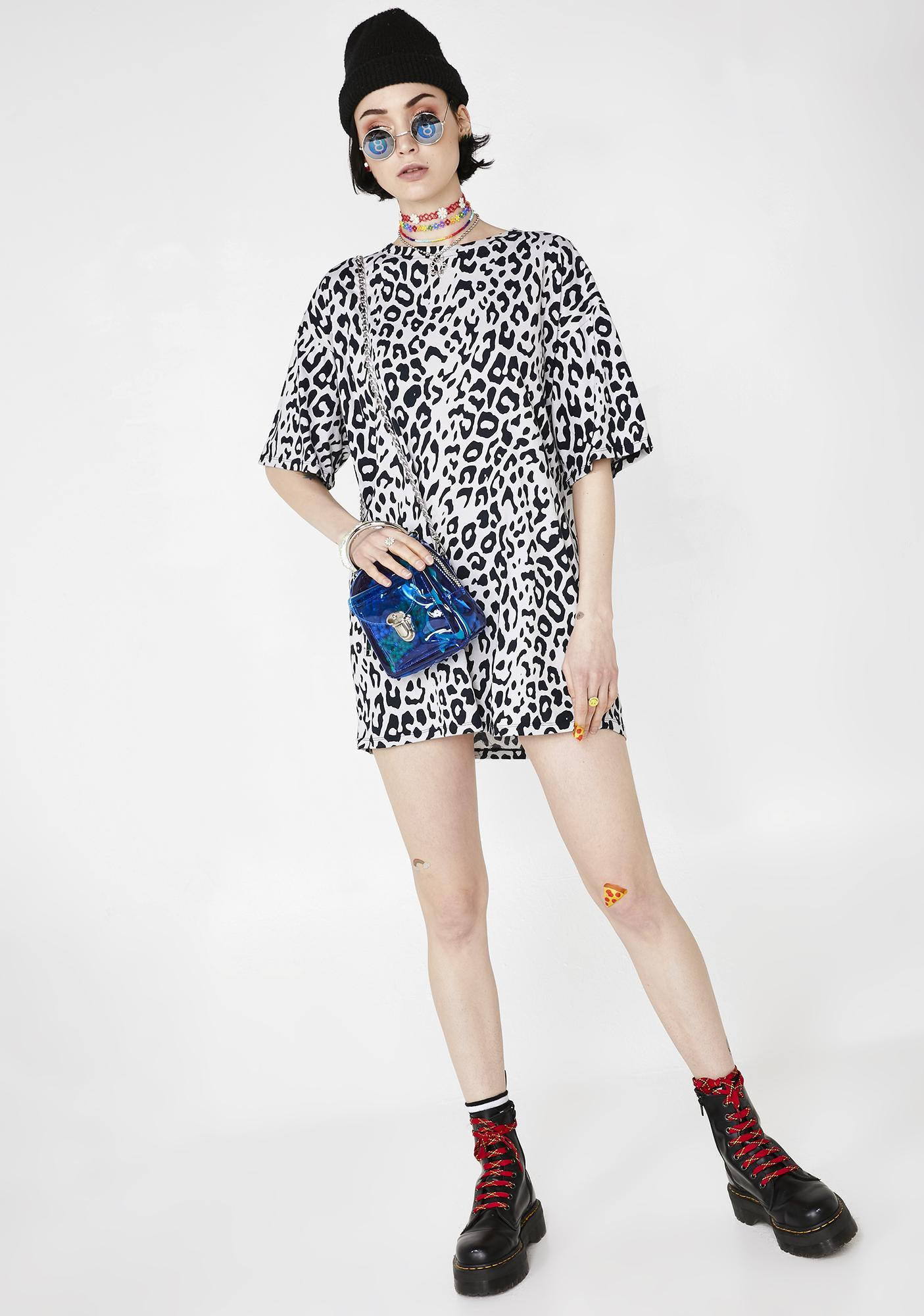 Motel Leopard Sunny Kiss Tee Dress