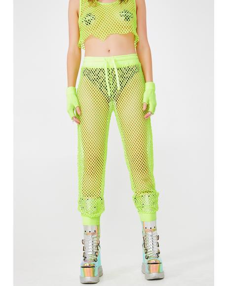 Lime Burn Baby Mesh Pants