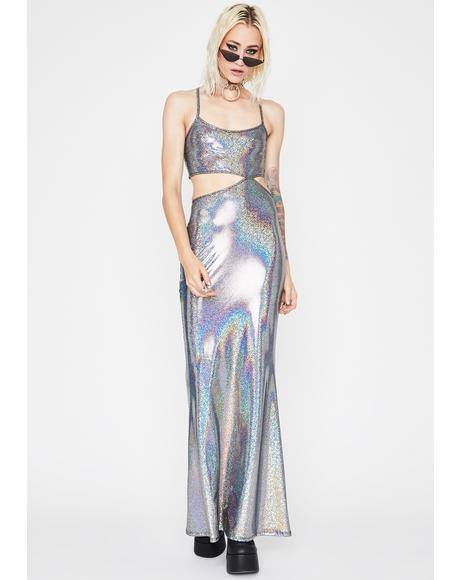 Mermaid Bliss Holographic Dress